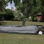 Site fencing delivered.