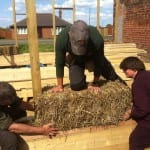 Fixing the first bale
