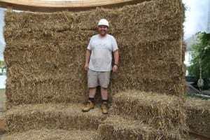 Phil Christopher and straw bale wall