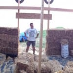 Phil in straw bale building