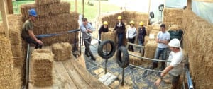 Learning straw bale building